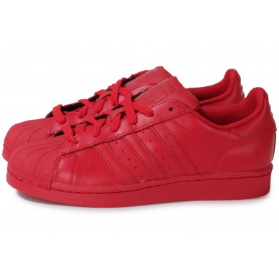 chaussures adidas rouge