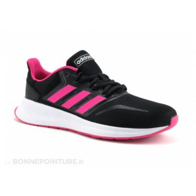 sneakers adidas fille noir et rose