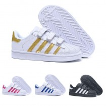 chaussure adidas enfant or