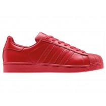 superstar femme adidas rouge